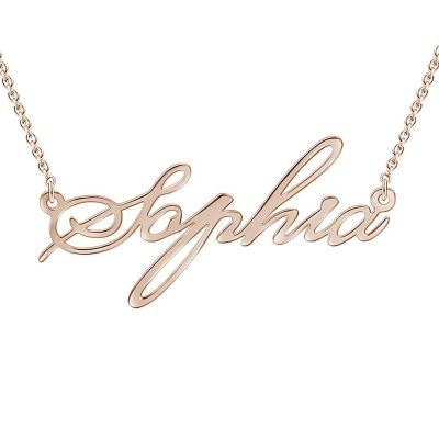 Simple Name Rose Gold Necklace