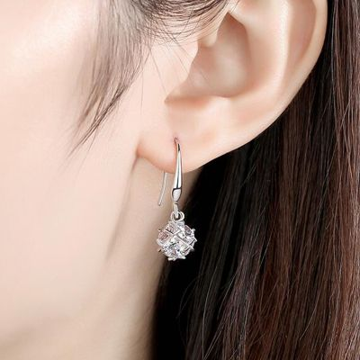 Cubic Hexagonal  Dangle Earrings