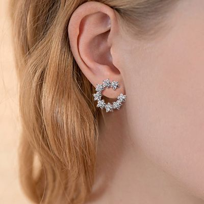 Star Moon Stud Earrings