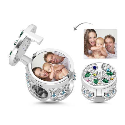 Family Tree Locket Photo Charm