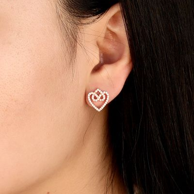 Forever Love Heart Stud