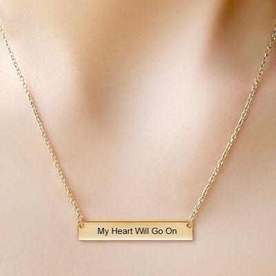 Classic Golden Bar Necklace