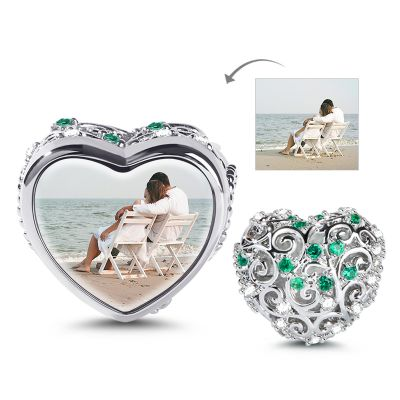 Heart Shape Photo Charm
