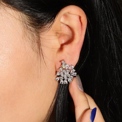 Crystal Abstract Stud