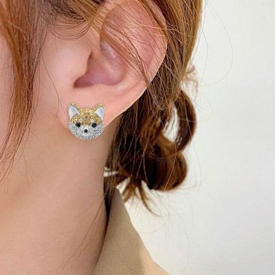 Akita Dog Stud Earrings
