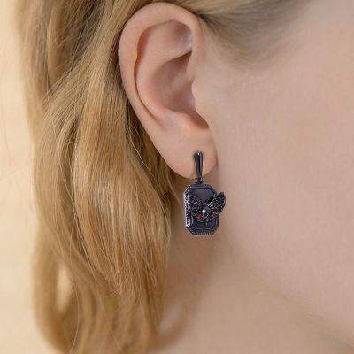 Skull Butterfly Earrings