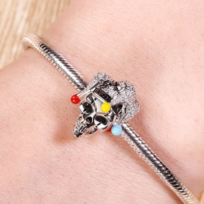 Skull With Clown Hat Charm