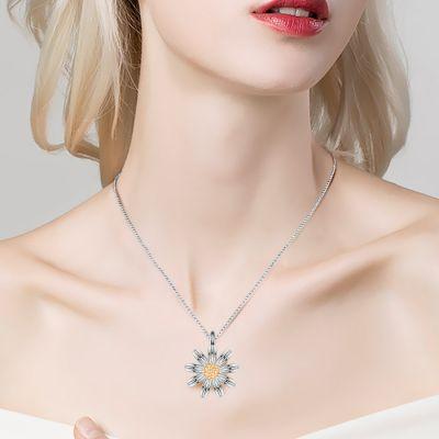 Golden Core Daisy Necklace