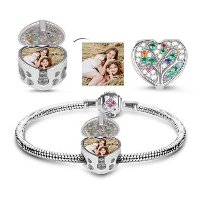Tree Photo Charms Bracelet