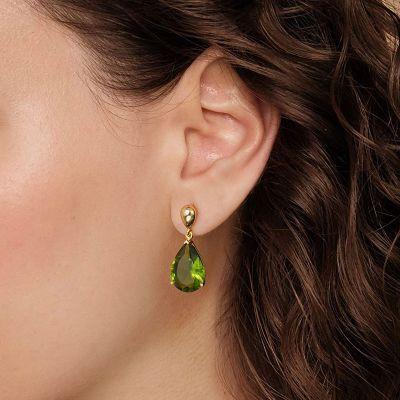 Olive Green Gemstones Dangle