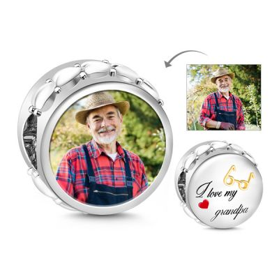 Grandpa Photo Charm