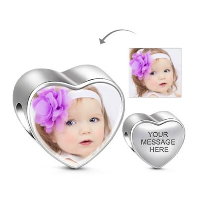 Heart Engravable Photo Charm