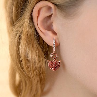 Devil Heart Earrings