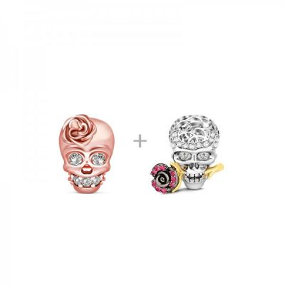 Rose & Skull Charms Set