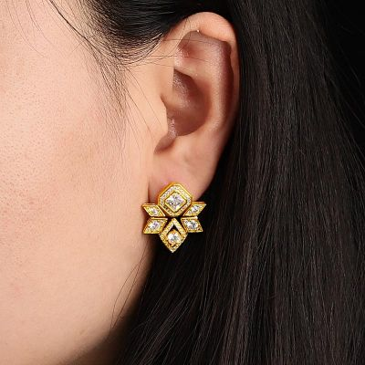 Hexagram Diamond Stud Earrings