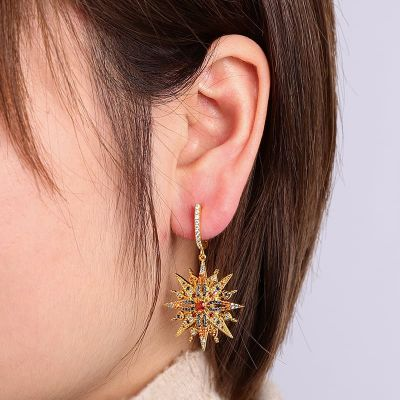 Eight-Point Star Earring