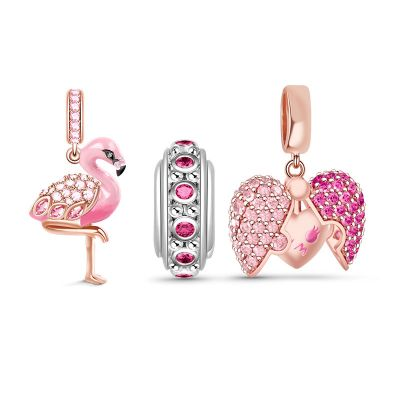 Flamingo Charm Set