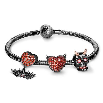 Heart Bat Charms Bracelet
