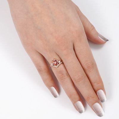 Red Heart V Ring