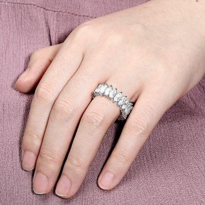 Marquise Cut Band Ring