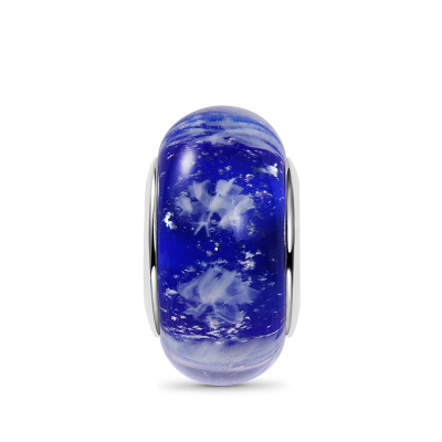 Snowflakes Murano Glass Charm