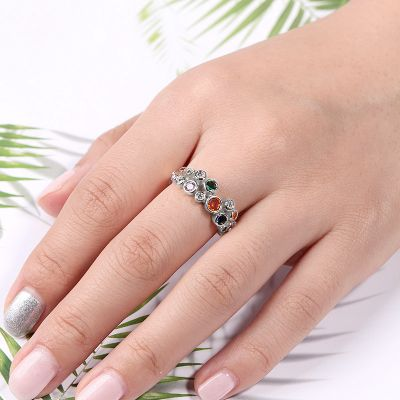 Colorful Crystal Ring