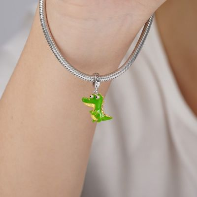Green Alligator Pendant