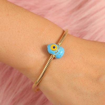 Cute Blue Monster Charm