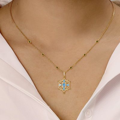 Azure Helm Necklace
