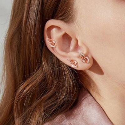 Butterfly Wing Stud Earrings