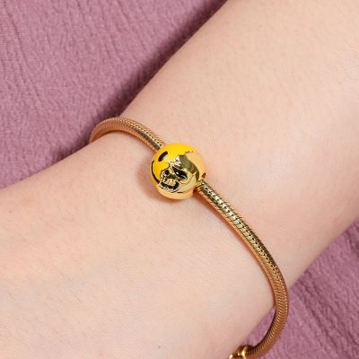 Smiley and Skull Charm