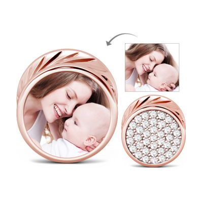 Round Shape Photo Charm