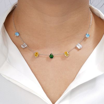 Colorful Gems Necklace