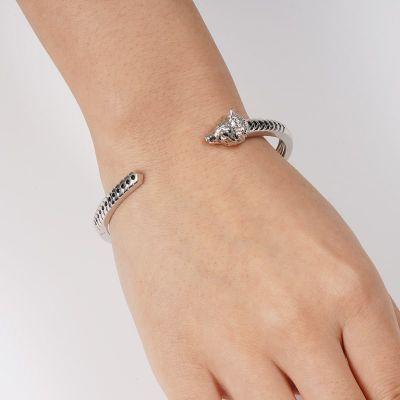 Wolf Open Bracelet