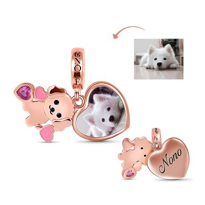 Teddy Engravable Photo Pendant