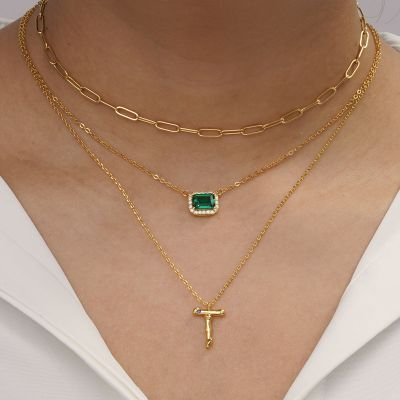 Bamboo Initial T Necklace