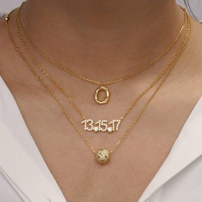 Bamboo Initial O Necklace