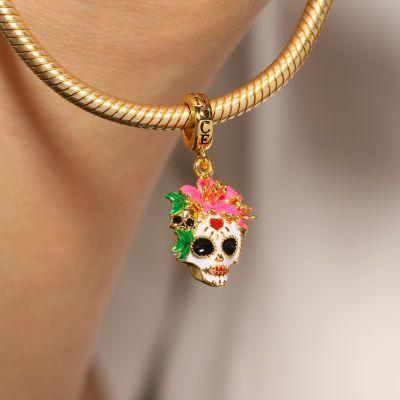 Mexican Woman Skull Pendant