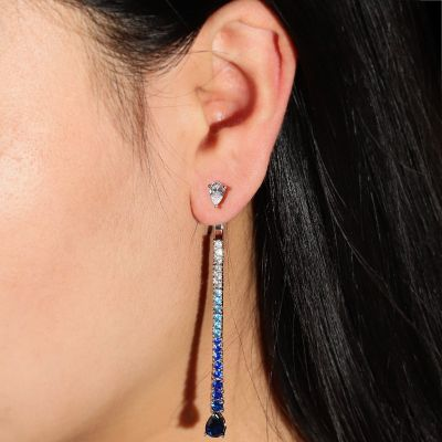 Blue Gradient Earrings