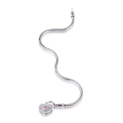 18k Rose Gold Lock Bracelet