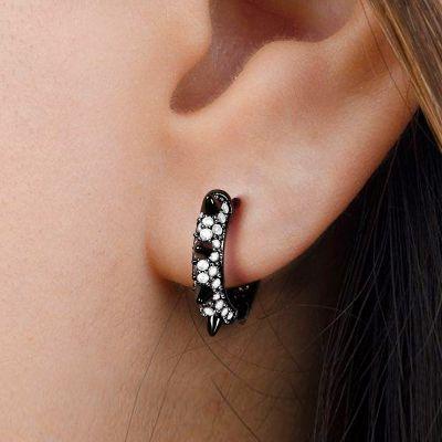 Black Mohawk Earrings