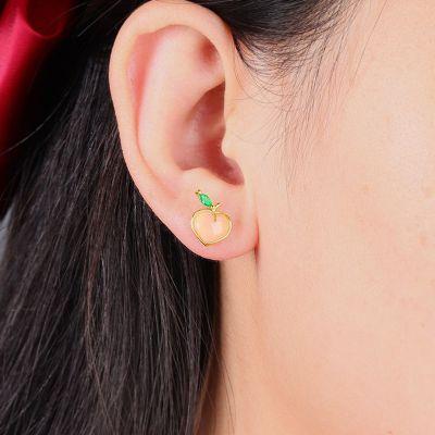 Peach Stud Earrings