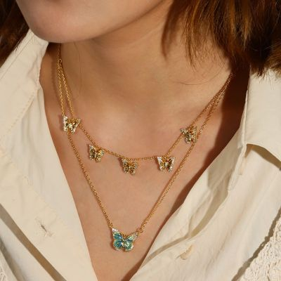 Butterfly Layered Necklace