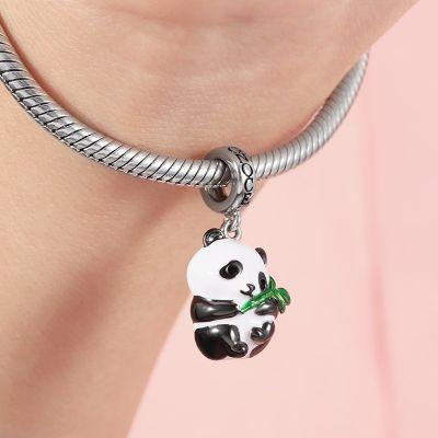 Panda Hugging Bamboo Pendant