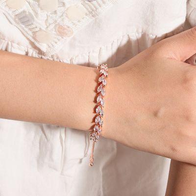 Olive Leaf Adjustable Bracelet