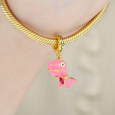Pink Dinosaur Pendant