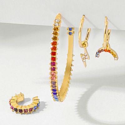 Rainbow Earrings Set