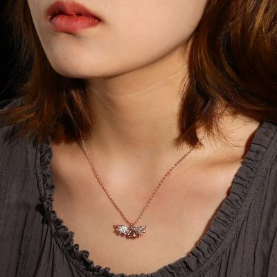 Heart With Wing Necklace