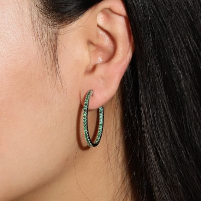Green Crystal Hoop