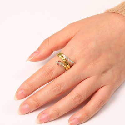 Golden Snake Ring